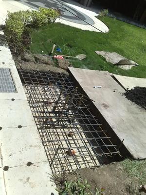 鋼筋水泥地基施工中