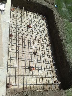 升降旗桿-鋼筋水泥地基施工