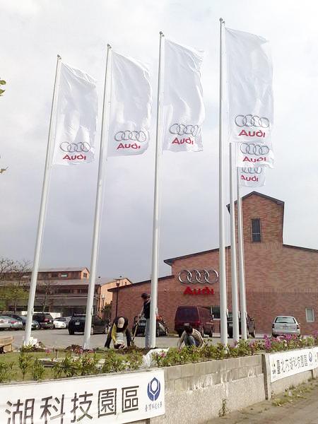 品牌展示中心巨型關東旗桿